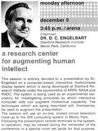Conference poster for Doug's session (1968)