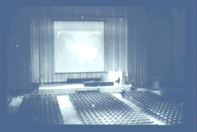 "Conference venue for the ""Mother of All Demos"" (1968)"