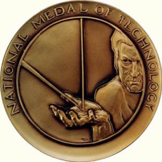 The National Medal of Technology awarded to Doug in 2000