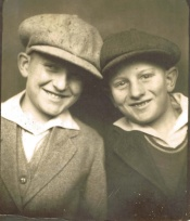 Doug as a young boy with his brother