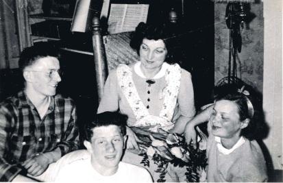 Gladys with her kids Doug, Dave, Dori