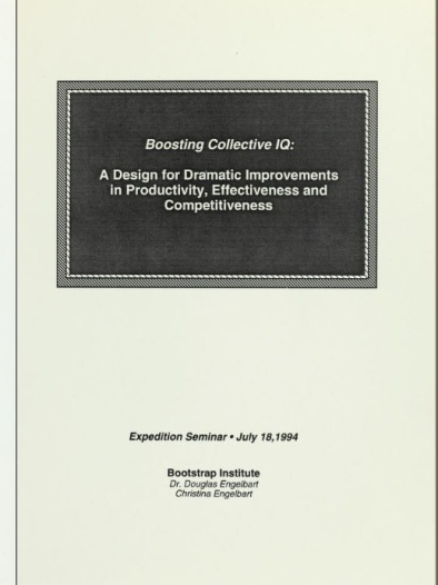 "Introducing the term ""Collective IQ"" (1994)"
