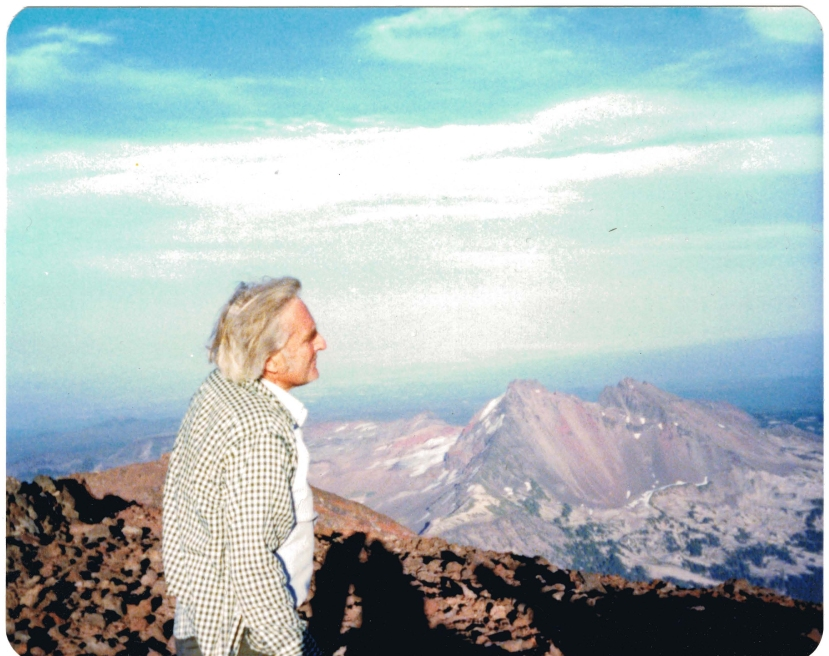 Doug atop South Sister in his home state of Oregon (late 1970s)